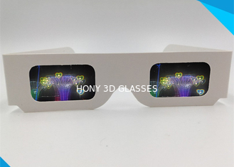 চীন Paper Custom Logo 3d Glasses For Fireworks / Heart / Christmas Tree / Snowman / Spiral সরবরাহকারী