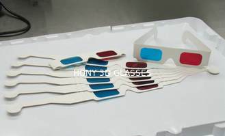 Disposable 3D Anaglyph Glasses Chromadetph , Paper Polarized Glasses