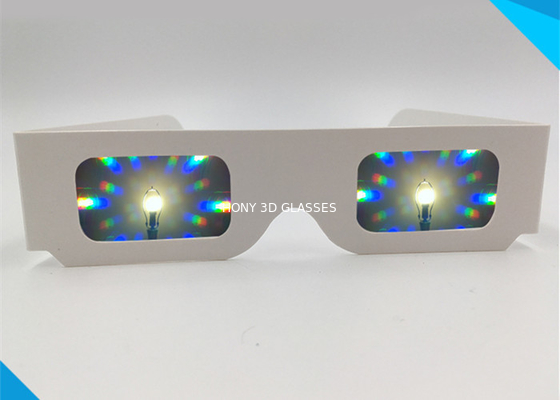 চীন Concert 3d Fireworks Glasses , Paper Diffraction Glasses 13500 Light Gratings পরিবেশক