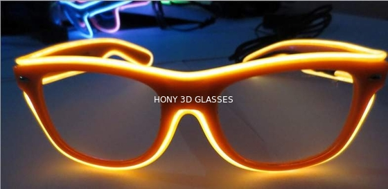 চীন High Brightness Orange El Wire Glasses For Party Show With Pc Plastic Frame পরিবেশক