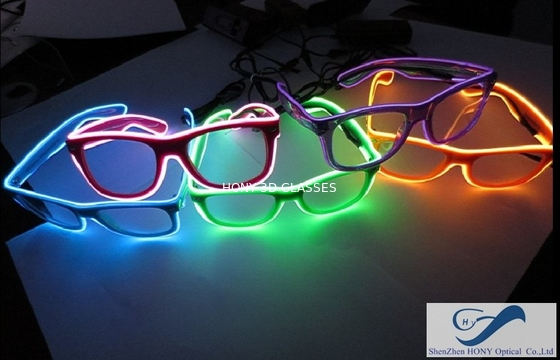 চীন Popular El Wire Glasses Diffraction Effect Lens For Watching Fireworks পরিবেশক