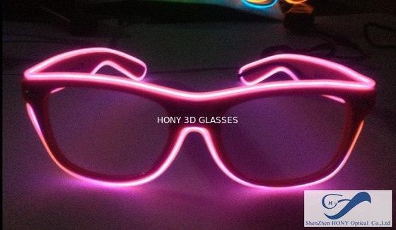চীন Shining Plastic El Wire Glasses Colorful Frames For Christmas Festival Party পরিবেশক