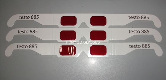 চীন Disposable Paper 3D Decoder Glasses With Red Lens OEM ODM পরিবেশক